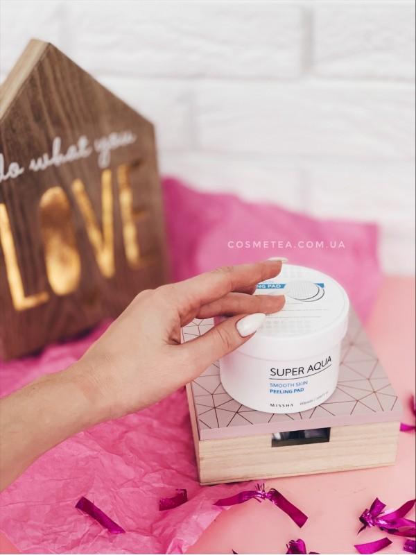 Missha Super Aqua Smooth Skin Peeling Pad 60шт