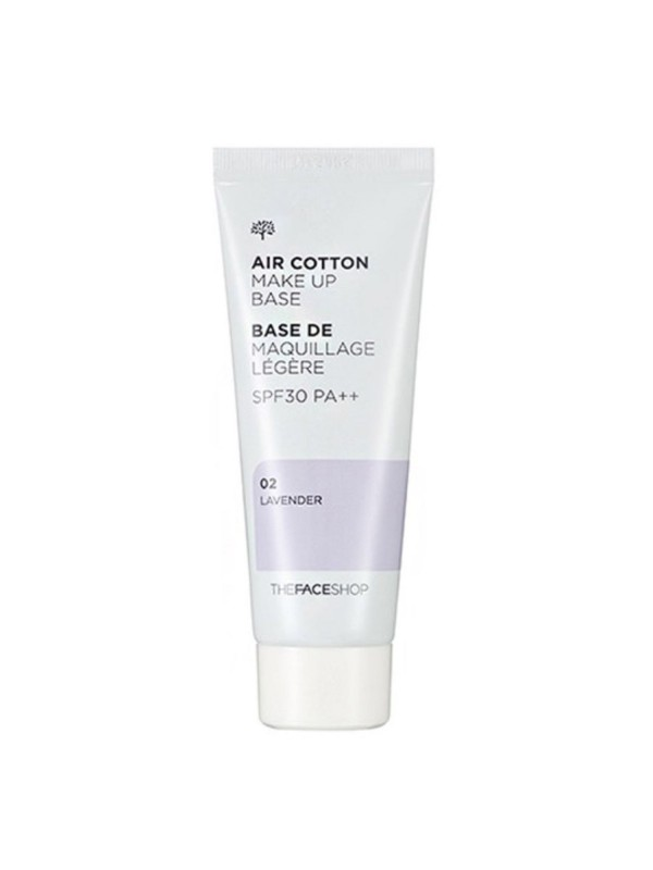 The Face Shop Air Cotton MakeUp Base Lavender 35ml