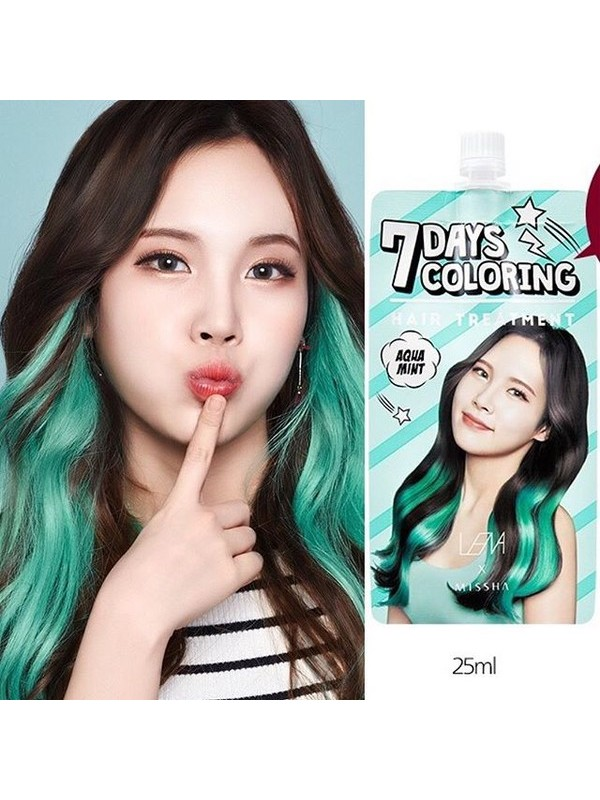 Missha 7Days Coloring Hair Treatment - Aqua Mint
