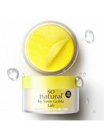 So Natural Shining Face Peeling Pads 80 шт