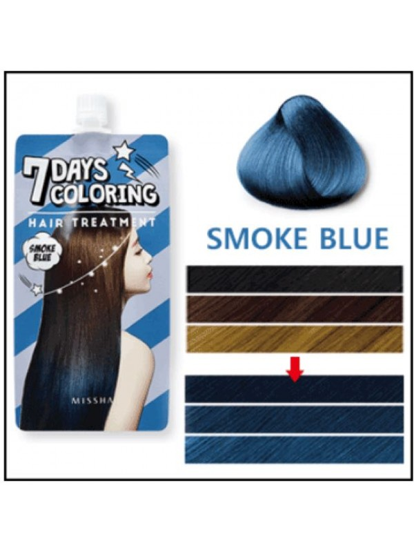 Missha 7Days Coloring Hair Treatment - Smoke Blue