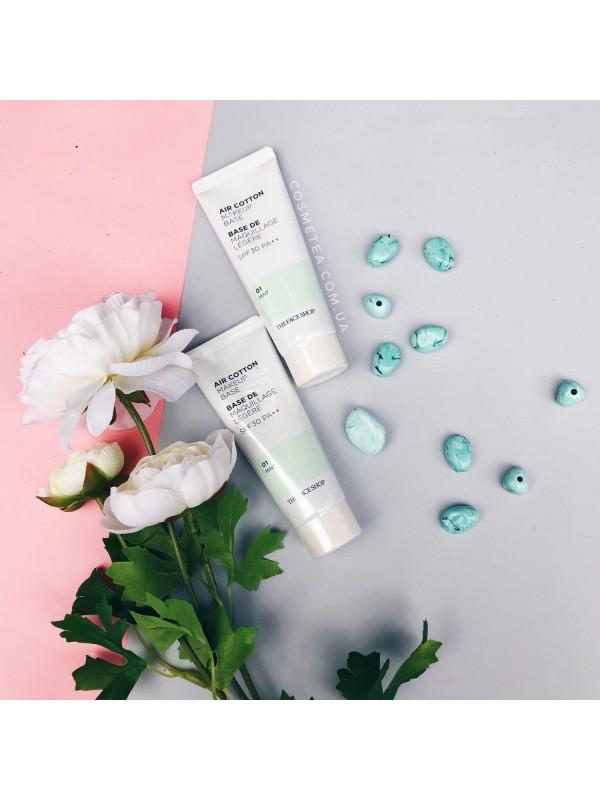 The Face Shop Air Cotton MakeUp Base Mint  35ml