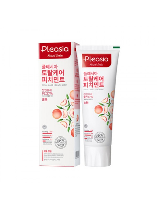 Pleasia Total Care Mint Toothpaste Peach Mint 100g