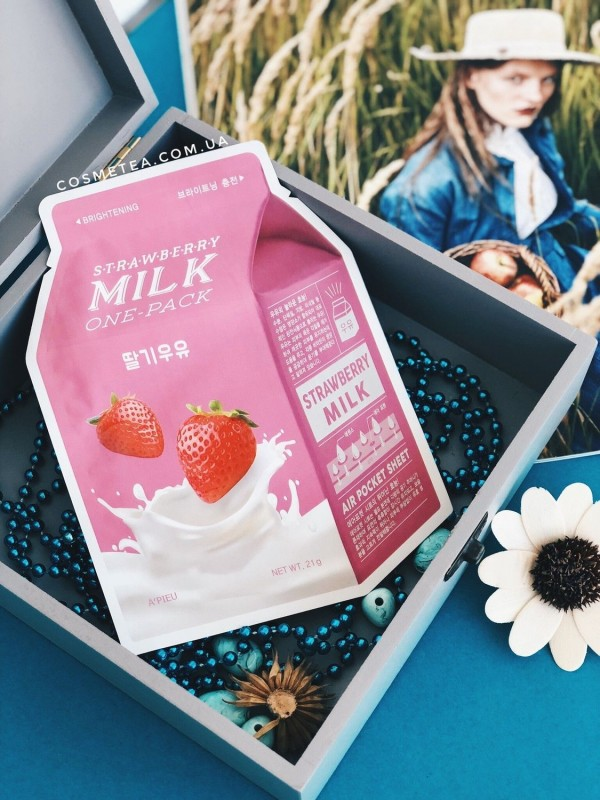 Apieu Strawberry Milk One Pack