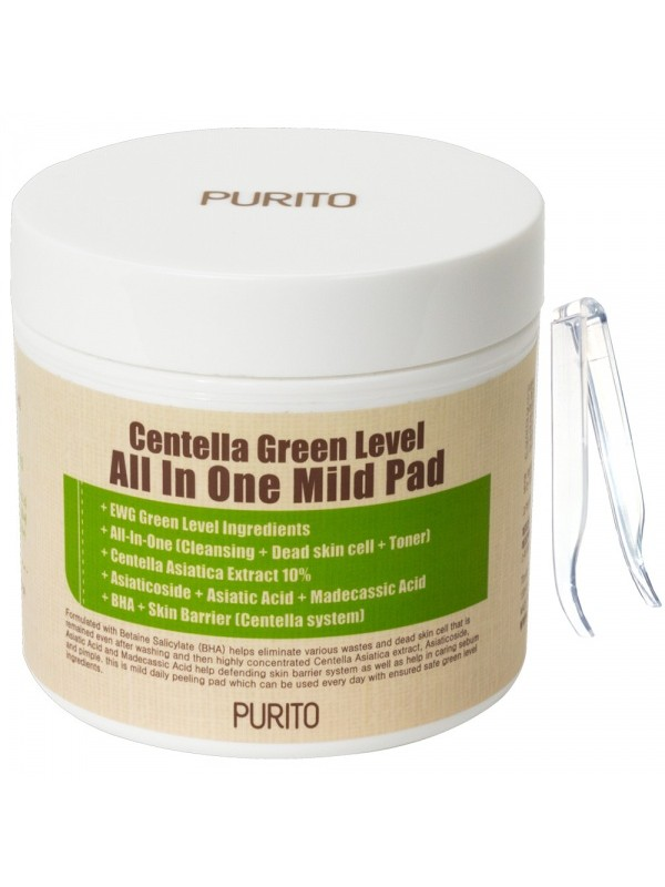 Purito Centella Green Level All In One Mild Pad 70шт