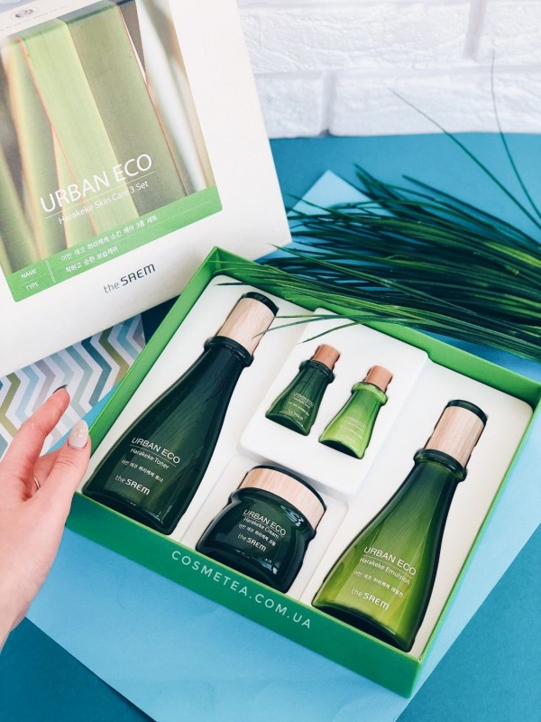 The Saem Urban Eco Harakeke Skin Care 3 Set 5шт