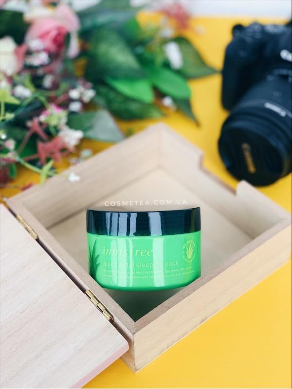 Innisfree Aloe Revital Sleeping Pack 100ml - купить в Днепре и Украине | цена в интернет-магазине Cosmetea