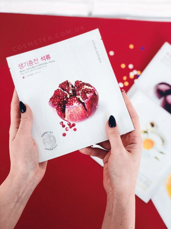 Nature Republic Real Nature Hydrogel Mask Pomegranate